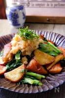 さつま芋とさつま揚げの小松菜炒め