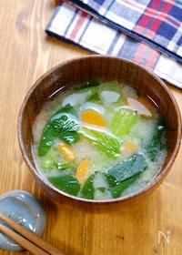 『【1週間献立用】小松菜と人参のお味噌汁』