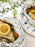 レモン酢マリネで美味しく減塩!白身魚のホイル焼き