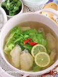 鶏手羽のエスニックスープ