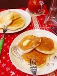 卵ナシ‼ノンオイル‼材料4つでもちもちパンケーキ♡