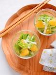 柑橘と水菜のハニーサラダ