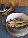 秋刀魚としめじの炊き込みごはん