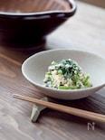 レンジ活用で手軽に。小松菜の白和え