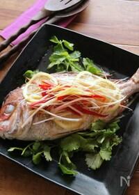 『白身魚の香味蒸し』