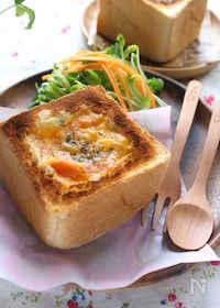 『市販のミニ食パンを使ったボートブレッド風アレンジパン』