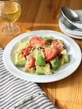 もち麦とトマトとアボカドのサラダ