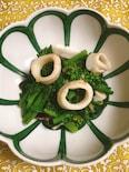 菜の花とイカの塩麹炒め
