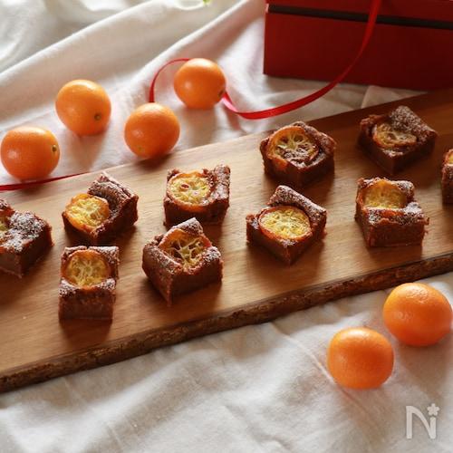 きんかんのショコラチーズケーキ