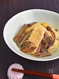 【簡単時短ヘルシー】山菜水煮と油揚げの白だし煮