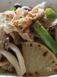 豚バラ大根と季節の野菜炒め