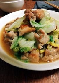 『大量消費★白菜と鶏もも肉のガーリック炒め』