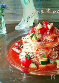『5分で出来ちゃう!?ツナとトマトの冷製パスタ♪』