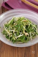 切って和えるだけ!水菜とカイワレ大根の韓国風ピリ辛和え