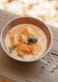 『高野豆腐入りキムチ豆乳スープ』
