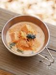 高野豆腐入りキムチ豆乳スープ