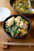 パパッと簡単!夜食にも。『くずし豆腐と青ねぎのたまご丼』