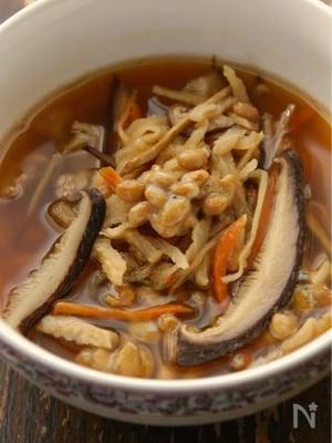 かんぶつと納豆の具だくさんチゲスープ