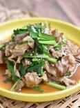 豚こま切れ肉とにらのスタミナ炒め