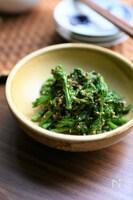 【春を感じる副菜】菜の花の胡麻おかか炒め