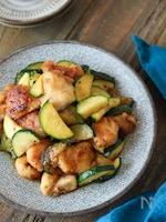【食材2つ】コク旨!鶏むね肉とズッキーニのハニマス炒め