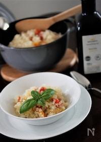 『ミニトマトと生ハムの炊き込みご飯』