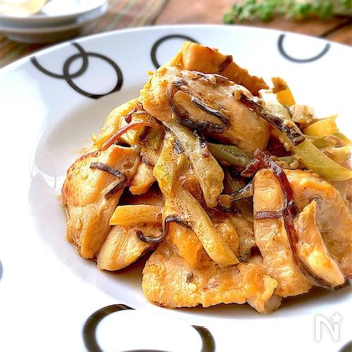味付け一発!鶏胸肉とブロッコリーの茎で塩昆布マヨ