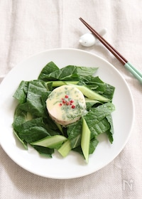 『鶏ハムと小松菜のサラダ』