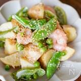 レンジで♪『えびと春野菜の和風マヨの温サラダ♪♪』