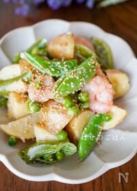 『レンジで♪『えびと春野菜の和風マヨの温サラダ♪♪』』