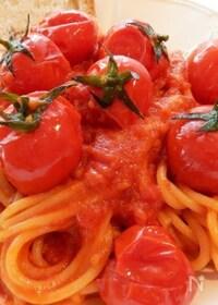 『ごろごろトマトのスパゲッティ・アッラ・スカルパリエッロ』
