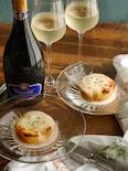 桃とモッツアレラチーズのグラタン