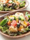 カリカリバゲットとパルミジャーノのごちそうサラダ