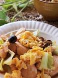 しっとり柔らか♡鶏むね肉とふんわり卵の親子野菜炒め