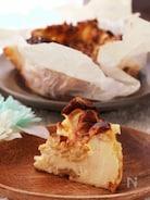冬のデザート♡ナッツとキャラメルのバスク風チーズケーキ