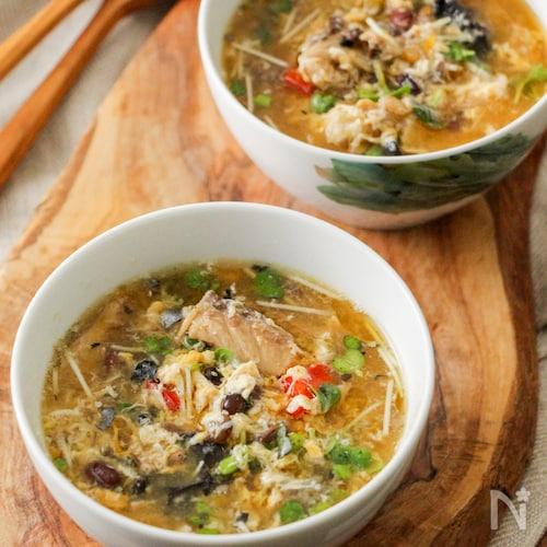 さば缶のかき玉スープ