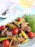 牛肉とアスパラガスの簡単炒め