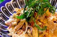 【レンジでできる絶品レシピ!!】ナスと豚肉のマヨポン和え