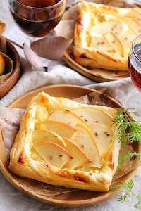 秋のスイーツ♪りんごとさつまいものパイ