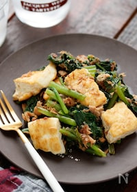 『豆腐と小松菜のツナチャンプルー【#作り置き#包丁不要】』