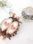 Happy Valentine♡ハートのいちごサンド♡
