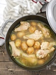 新じゃがいもと新玉ねぎの手羽元スープ煮♪カレー風味