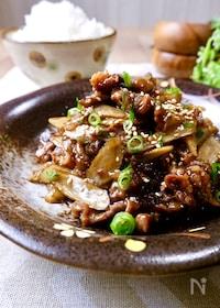 『ご飯が進む♡絶対おいしい『牛肉とごぼうの甘辛炒め』』
