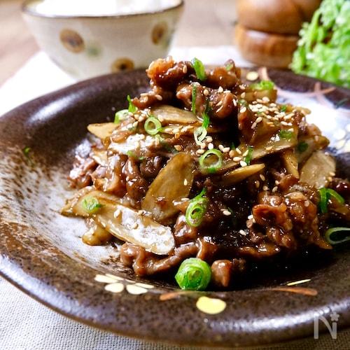 ご飯が進む♡絶対おいしい『牛肉とごぼうの甘辛炒め』