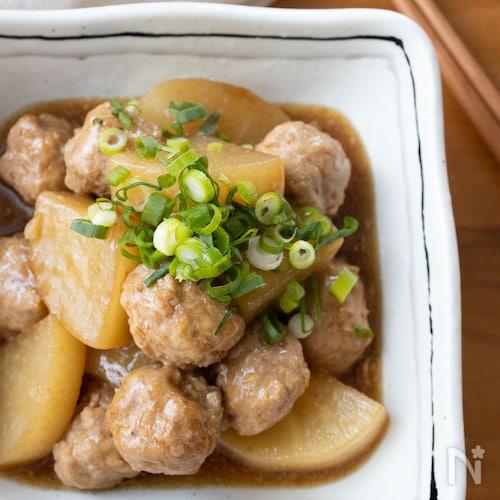 『大根と肉団子の中華風煮込み』#大根消費#ご飯がすすむ