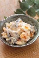 食べ応えあり!組み合わせ最高♡こんにゃくと卵の味噌マヨサラダ