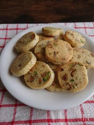 ごろごろピスタチオの贅沢クッキー【型いらず】