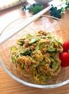 夏にピッタリ‼️主食にしたい♡カレー風味のさっぱり春雨サラダ