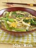 小松菜とたまごのとろっとうどん