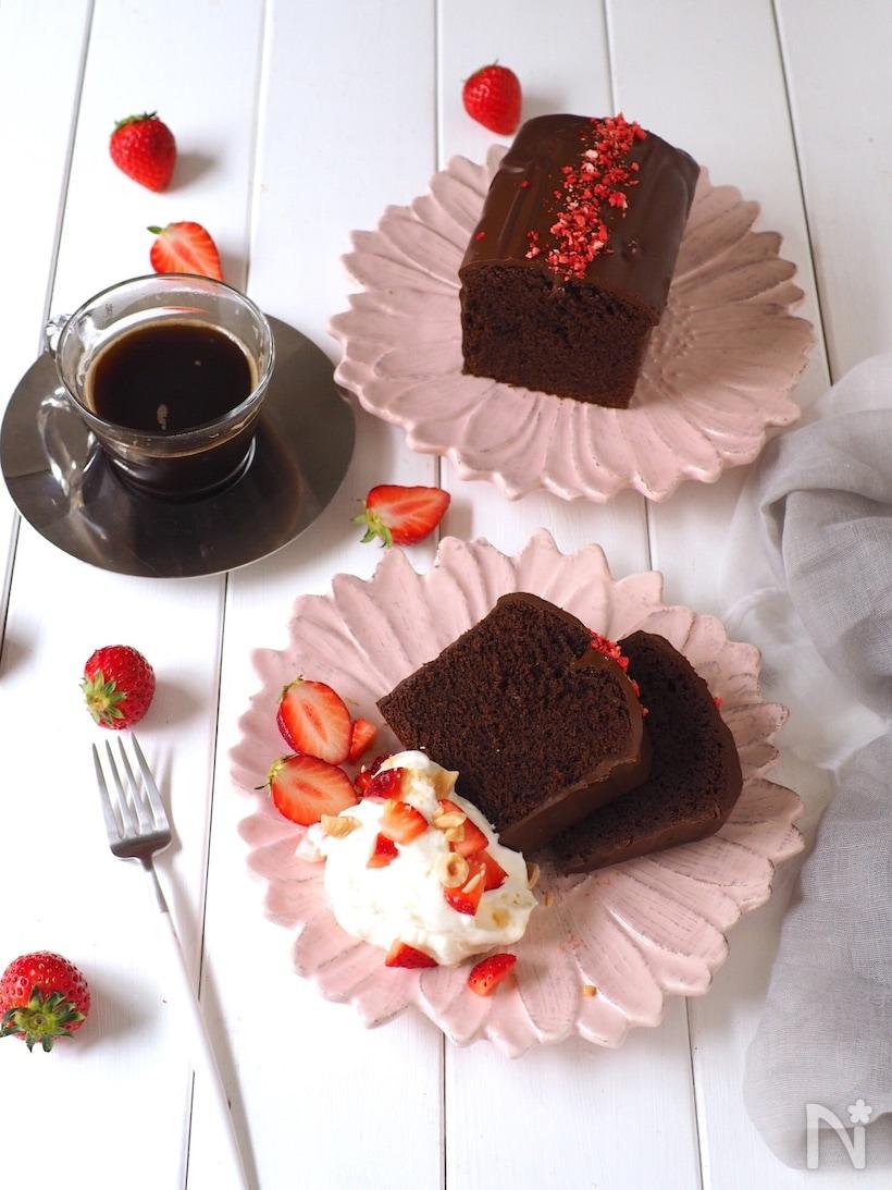 チョココーティングのWチョコパウンド
